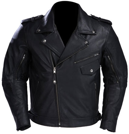 MoterBike Leather Men Jacket